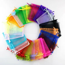 Hot 100PCS 5x7cm Sheer Organza Wedding Party Favor Gift Candy Bags Jewelry Pouch