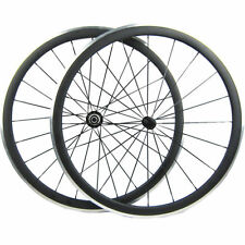 700C Light Aluminum Surface 38mm Alloy Brake Clincher Carbon Wheels Wheelset