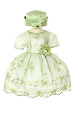 New Baby Girl & Toddler Wedding Prom Easter Formal Party Dress sz S M L XL Sage