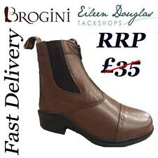 Brogini Leather Zip Jodhpur Boots Size 7-12 Riding Jod  Jodphur Brown Style CB3B