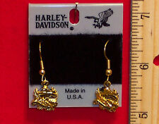 "Harley Davidson Hook Earrings(Eagle is Soaring) ""2"" Variations-H118G/S-DE"
