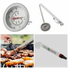 Stainless Steel Cooking Oven Thermometer Probe Thermometer Food Meat Gauge BX