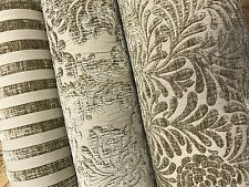 Biscuit /Beige Luxury HEAVYWEIGHT Chenille Velvet Upholstery Curtain Fabric