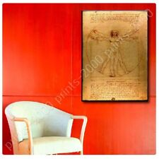 POSTER Or STICKER Decals Vinyl The Vitruvian Man Leonardo Da Vinci Wall Decor