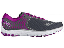 NEW WOMENS BROOKS PUREFLOW 6 RUNNING SHOES TRAINERS ANTHRACITE / SILVER / PURPLE