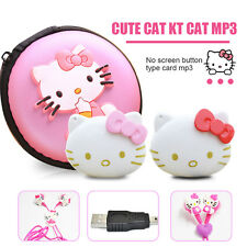 Lovely Mini for Hello Kitty MP3 Music Playerc+Earphone+Mini USB+bag /4 sets