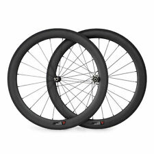 700C 50mm Clincher Carbon Wheels Road Bike Racing Bicycle Straight Pull Wheelset