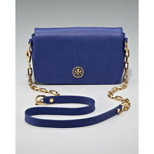 Tory Burch Robinson Cross Body Chain Bag Mini Saffiano Leather in Cobalt blue