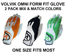 Volvik Omni Form Fit Golf Glove 3 Colors One Size Fits Most 2 Pack Mix & Match