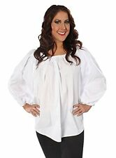 WOMENS LADY PIRATE PEASANT RENAISSANCE WENCH COSTUME LONG SLEEVE BLOUSE SHIRT