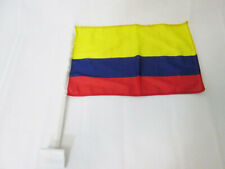 COLOMBIA CAR FLAG 18'' x 12'' - COLOMBIAN CAR FLAGS 30 x 45cm - BANNER 18x12 INC
