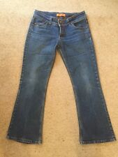 "LADIES STRETCH JEANS. SKINNY FLARE. BLUE. SIZE 14. LEG 30"". VGC"