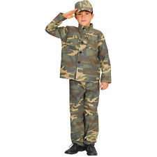 Boys Action Commando Fancy Dress Costume for Army Soldier Superhero Cosplay Outf