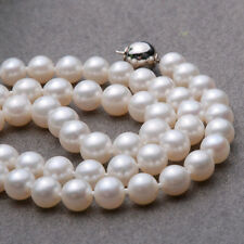 Charming 7-8/8-9mm AAA+ akoya pearl necklace 925/14kt Y/W clasp choose jewelry