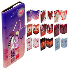 For Samsung Galaxy S8 S8+ Romantic Lover Print Flip Wallet Phone Case Cover
