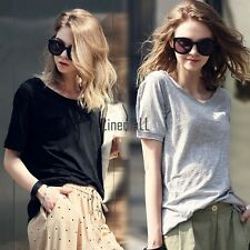 New Lady Women's Fashion Short Sleeve O-Neck Casual Loose T-Shirt Top LM01