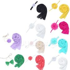 Cute~ Baby Kid Newborn Lace Wrap Cloth Prop Outfits Photo Photography&Headdress