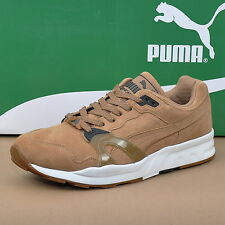 PUMA Trinomic XT1 Allover Suede Mens Shoes Trainers Leather Size 42,5 Brown