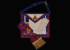 masonic regalia- ROYAL ARCH PROVINCIAL  APRON AND SASH PACKAGE WITH FREE GLOVES