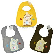 Cartoon Bear Print Toddler Bibs Soft Waterproof Saliva Towel  lunch kids 3 OK01