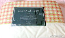 LAURA ASHLEY TWIN BED SHEET SET SHAMS BEDSKIRT CHOICES CHECK VINE PINK GREEN