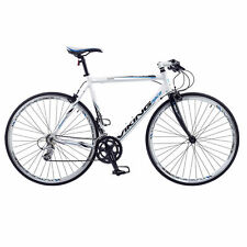VIKING PALERMO MENS FLAT BAR ROAD RACING BIKE 700C WHEEL ALLOY 56CM FRAME WHITE