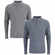 Mens Long Sleeved Polo Shirt Brave Soul Collared Casual Top Sizes S - XL