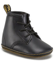 """Dr Martens """"Auburn"""" Black Leather Baby Soft Sole Boots"""