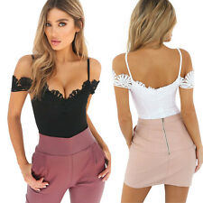 Sexy Women Summer Sexy Lace Gallus Sleeveless Rompers Jumpsuit Leotard Clothes