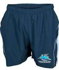 Cronulla Sharks NRL Kids Microfibre Training Footy Shorts BNWT Rugby Clothing