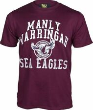 Manly Sea Eagles NRL Supporter T-Shirt Tee BNWT Kids Rugby League Clothing