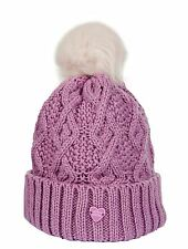 Little Sister Childrens Equestrian Wool Knit Paradiso Faux Fur Bobble Hat