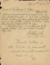 THOMAS A. EDISON - AUTOGRAPH MEMO SIGNED 11/21/1922 WITH CO-SIGNERS