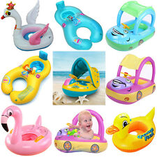 Hot Sunshade Baby Kids Float Seat Boat Inflatable Swimming Ring Pool Water Fun