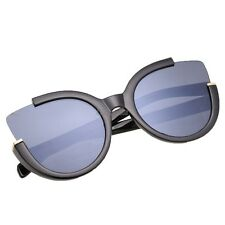 Fashion Women Black Half Plastic Frame Sunglasses OK01