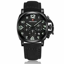Men Fashion Military Stainless Steel Analog Date Sport Quartz Wrist Watch Casual
