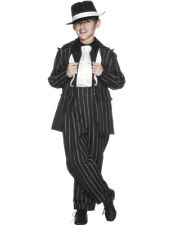 Zoot Suit Gangster Boys Costume Size M