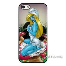 Sexy Cartoon Smurfs Smurfette Painted Case Cover For iPhone 5 5s 6 6s 7 plus