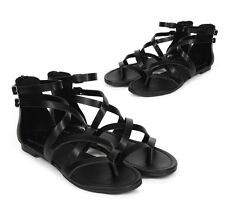 New Women Breckelles Ruby-65 Leatherette Strappy Gladiator Sandal