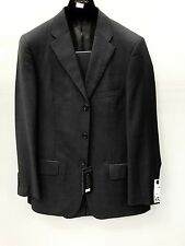 NEW Valentino Roma Italy Mens Suit 100% Wool 3 Button Gray Made In Egypt 40R