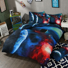 Galaxy Doona Quilt Duvet Cover Set Single Queen Size Bed Pillowcases Covers Set