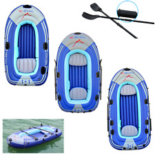 Inflatable Boat Dinghy Boat Yacht Tender Set with Paddles & Pump for 2-4 Person
