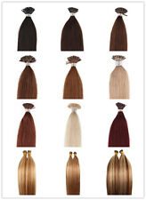 """5A Grade Remy 100%Real Human Hair Extensions Stick Tip Straight 18""""-24""""100g 1g/s"""