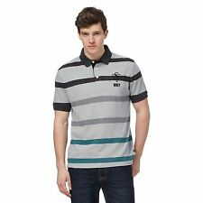 St George By Duffer Mens Grey Striped Polo Shirt From Debenhams