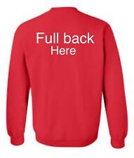 Printed workwear personalised sweat shirts work printed/embroidered text/logos