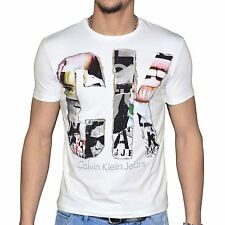 CALVIN KLEIN JEANS MENS T SHIRT CK CREW NECK SHORT SLEEVE COTTON TEE TOP THORE