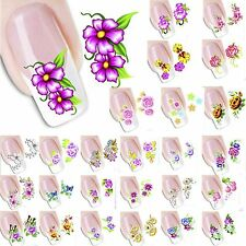 27 Designs 3D NAIL ART STICKER DECALS TIPS STICKERS WATER TRANSFER STAMPING UK