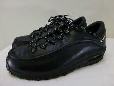 NIKE AIR black leather hiking trail athletic low top ankle shoes womens sz 10 42