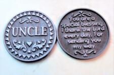 Lot of (10) Uncle Inspirational Pocket Coins Tokens Pewter God Family 1 inch