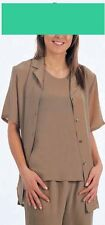 Pure silk womens Shackets shirts jackets camisoles in Luxury Crepe de Chine